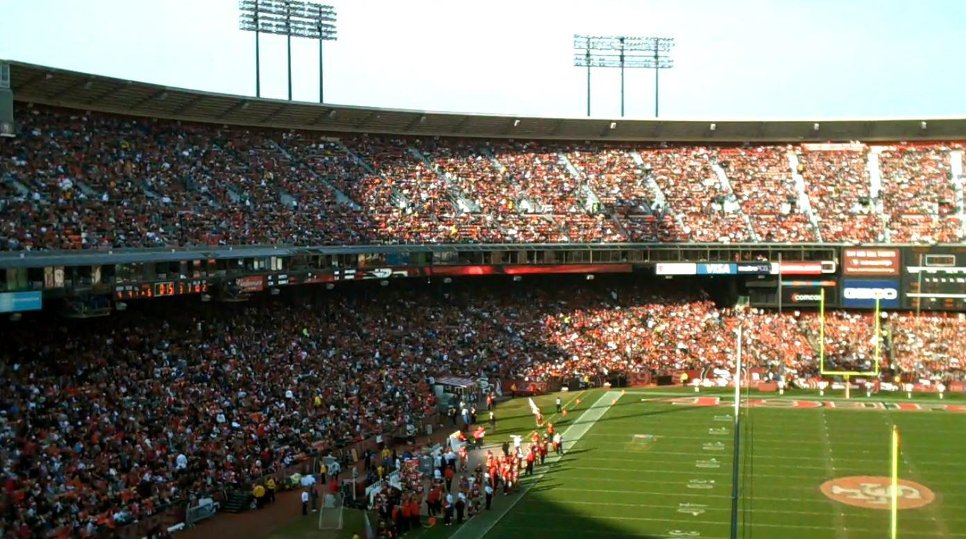 Fans have cheered on the 49ers at Candlestick Park since 1971