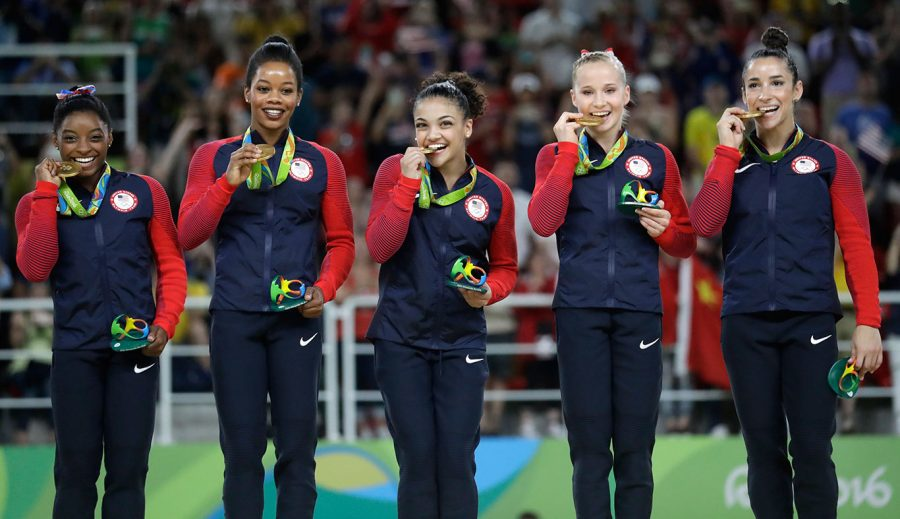 The Final Five after winning team gold in Rio (www.nbcolympics.com)