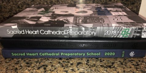 Past editions of the SHC yearbook. The 2020-2021 edition is sure to be very different.