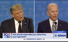 President Donald J. Trump repeatedly interrupted former Vice President Joseph R. Biden, Jr in the first 2020 presidential debate.