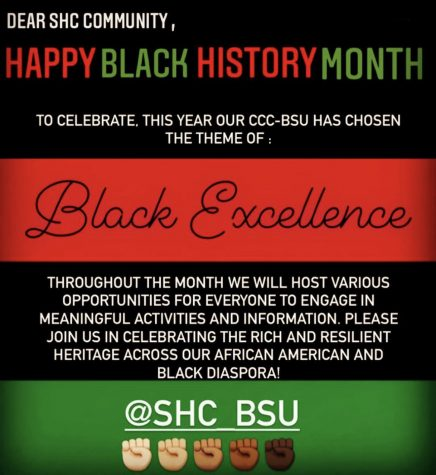 This February, SHC's Black Student Union is making a concerted effort to celebrate African-American History and uplift Black voices within the SHC community.