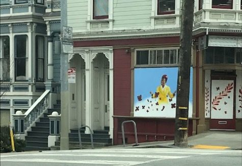 A mural depicting Amanda Gorman was erected at the Laguna & Page St intersection in San Francisco.